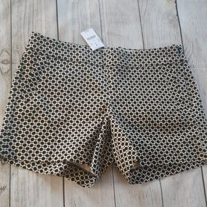 New J.Crew black and white chino shorts size 8